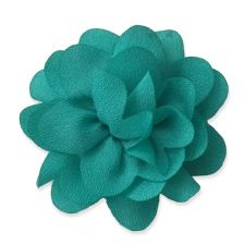 5cm Small Rose TEAL GREEN Fabric Flower Applique
